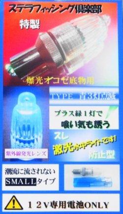 画像1: (クラス最大光量!)オリジナル水中ライト・強力LED・青緑(ブルーグリーン)限定品!!