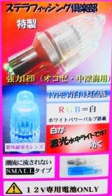 (クラス最大光量!)オリジナル水中ライト・強力LED・白青(ホワイトブルー)限定品!!